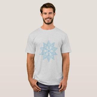 Camiseta O teste padrão azul do sol