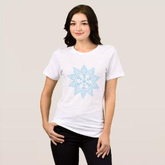 Camiseta O teste padrão azul do t-shirt do sol