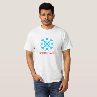 Camiseta O texto e o ícone do floco de neve imprimiram no