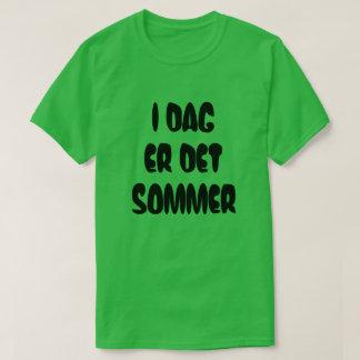 Camiseta O texto norueguês é hoje verão no norueguês