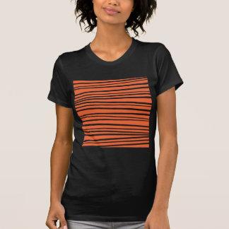 Camiseta O tigre moderno do abstrato da laranja listra o