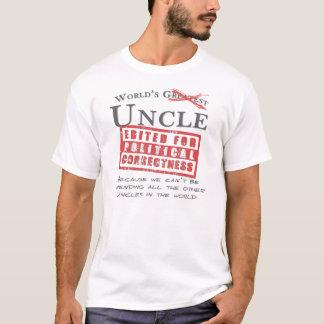Camiseta O tio do mundo polìtica correto - ofensiva