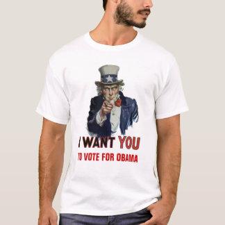 """Camiseta O tio Sam diz, """"voto para Obama """""""