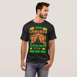 Camiseta O trabalhador ama a lua do Dia das Bruxas e o