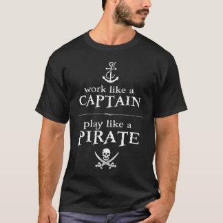 Camiseta O trabalho como um capitão, jogo gosta de um