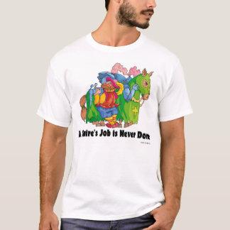 Camiseta O trabalho de um latifundiário é feito nunca
