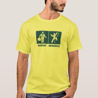 Camiseta O trabalho é importante, escalando é Importanter