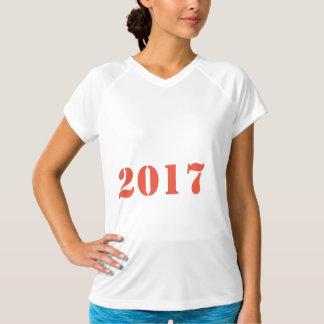 Camiseta O treinamento seco dobro de 2017 mulheres do FELIZ