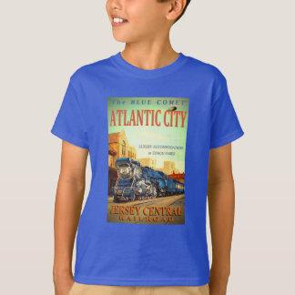 Camiseta O trem azul do cometa caçoa o t-shirt