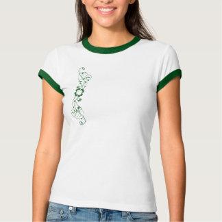 Camiseta O trevo floral irlandês de St Patrick