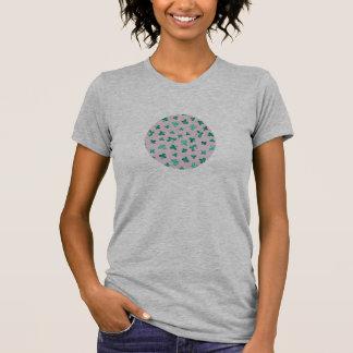 Camiseta O trevo sae do t-shirt do jérsei das mulheres