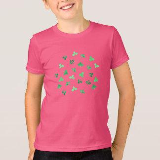 Camiseta O trevo sae do t-shirt do jérsei dos miúdos