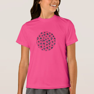 Camiseta O trevo sae do t-shirt dos esportes das meninas