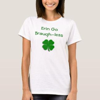 Camiseta O trevo verde-claro, Erin vai Braugh-less