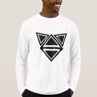 Camiseta o triângulo dá forma ao arranjo