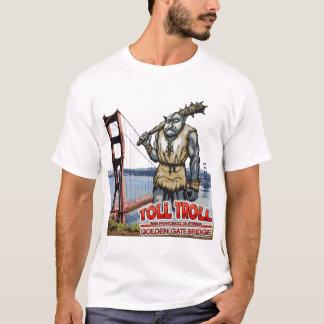 Camiseta O troll golden gate bridge do pedágio destruiu