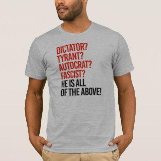Camiseta O trunfo é um fascista do autocrata do tirano do