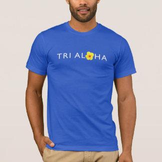 Camiseta O Tshirt básico dos tri Aloha homens - obscuridade