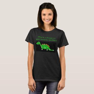 Camiseta O TShirt das mulheres da piada do dinossauro