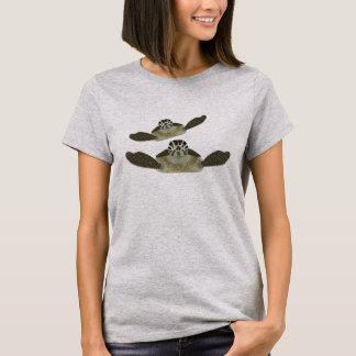 Camiseta O Tshirt das mulheres das tartarugas de mar