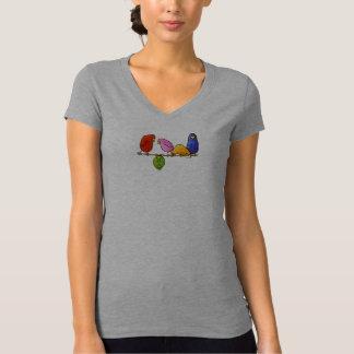 Camiseta O tshirt das mulheres de LimbBirds