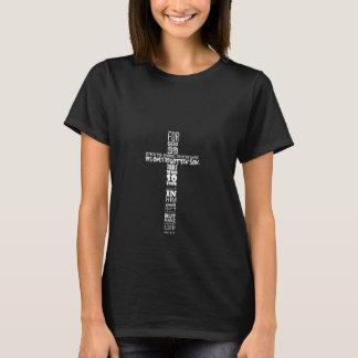 Camiseta O Tshirt das mulheres do 3:16 de John