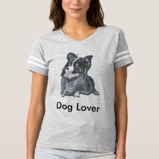 Camiseta O Tshirt das mulheres do amante do cão