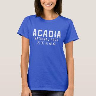 Camiseta O tshirt das mulheres do parque nacional do Acadia