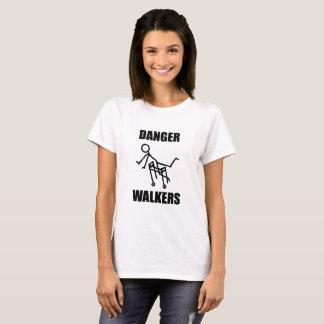 Camiseta O tshirt das mulheres dos CAMINHANTES do PERIGO