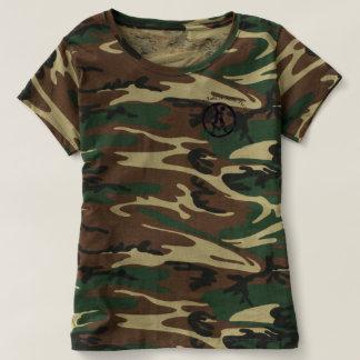 Camiseta O TShirt do Camo das mulheres com país toma a