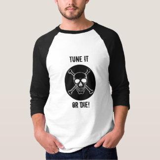 Camiseta O Tshirt do crânio, ajusta-o ou morre-o!