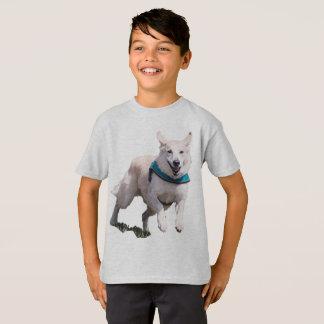 Camiseta O Tshirt do menino da imagem do cão