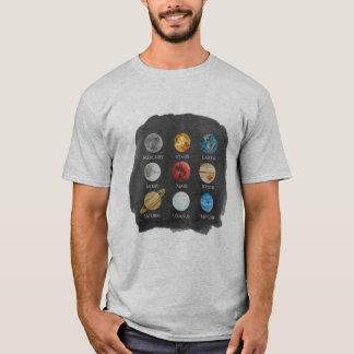 Camiseta O TShirt dos homens da aguarela do sistema solar