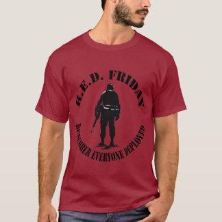 Camiseta O Tshirt dos homens VERMELHOS de SEXTA-FEIRA
