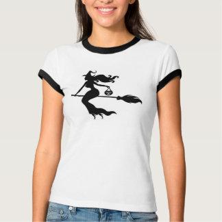 Camiseta O TShirt o Dia das Bruxas das mulheres felizes da