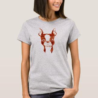 Camiseta O Tshirt pintado mão das mulheres originais do cão