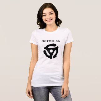 Camiseta O Tshirt retro de 45 mulheres