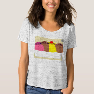 Camiseta O tshirt slouchy das mulheres do sorvete