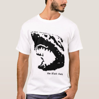 Camiseta o tubarão preto
