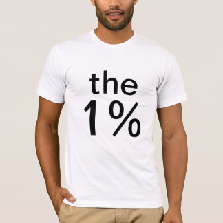 Camiseta o um por cento (1%) - anti-ocupe Wall Street