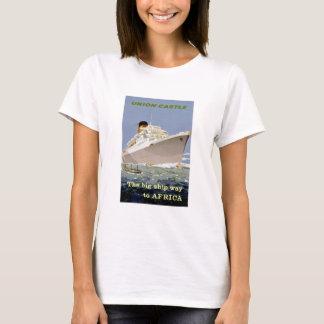 """Camiseta O União-Castelo """"o grande envia a maneira a África"""