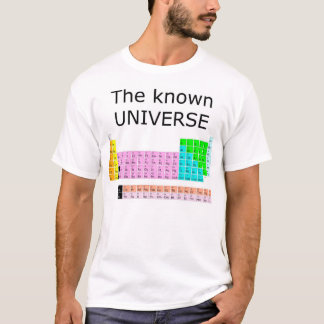 Camiseta O universo conhecido