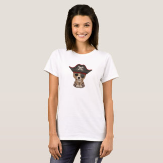 Camiseta O urso bonito Cub de Brown do bebê pirateia