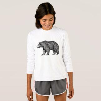 Camiseta O urso carrega para fora para uma caminhada