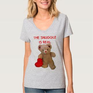Camiseta O urso de ursinho com coração grande quer Snuggle