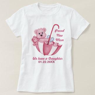 Camiseta O urso de ursinho do guarda-chuva - mamã nova da