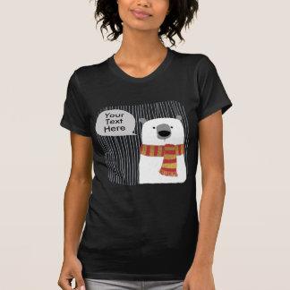 Camiseta O urso do desenho da mão de Digitas, cria seu