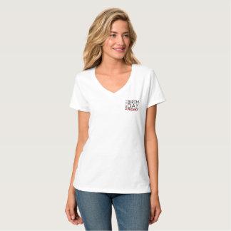 Camiseta O V-pescoço do projeto do aniversário