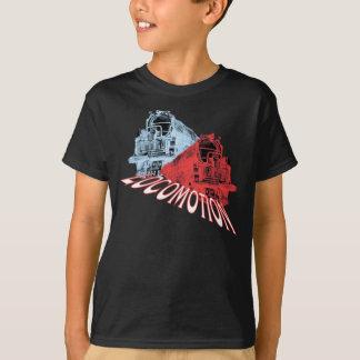 Camiseta O vapor das locomotivas treina a locomoção