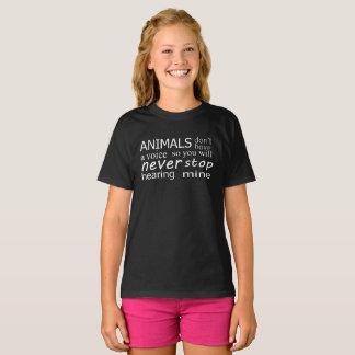 """Camiseta O Vegan """"animais não tem uma voz…"""" parte superior"""